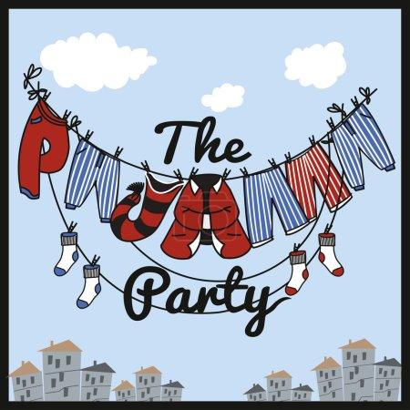 the pajama party illustration.