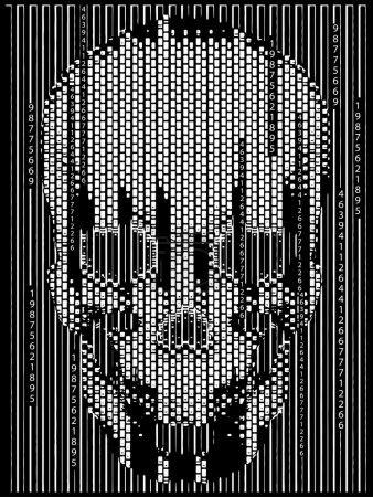 Skull with Pixel effects