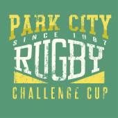 Rugby, sportovní trička tisk