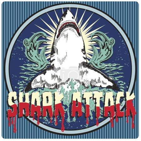illustration drawing dangerous shark