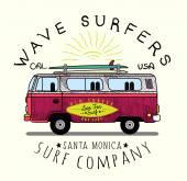 Van Surf Illustration