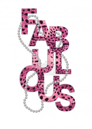 Chic slogan graphic with leopard texture