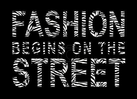 Photo pour Conception pour les t-shirts, mode commence dans la rue - image libre de droit