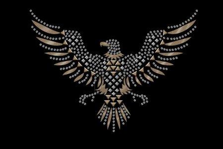 Photo pour Impression de tee-shirts, eagle - image libre de droit