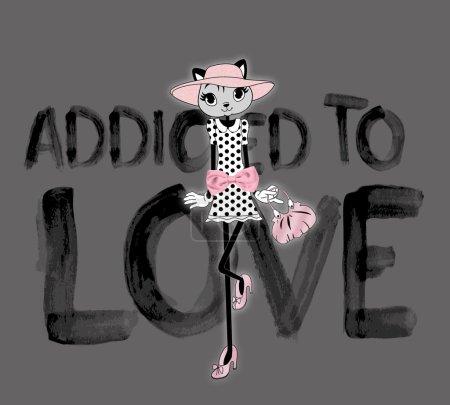 Photo pour Impression de t-shirts, addicted to love - image libre de droit