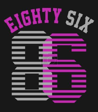 Photo pour Impression de t-shirts, quatre-vingt-six - image libre de droit