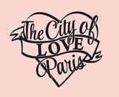 Grafic for t-shirts the city of love Paris