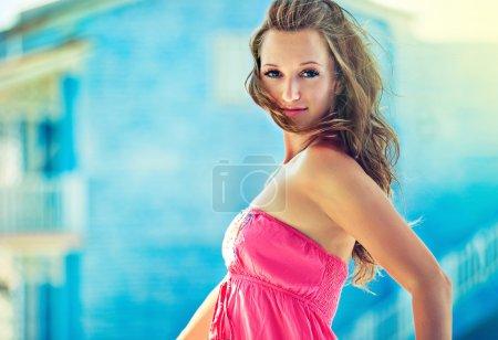 Romantic sunny girl