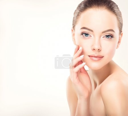 Photo for Beautiful young Woman with Clean, Fresh Skin.Cosmetology and makeup concept - Royalty Free Image