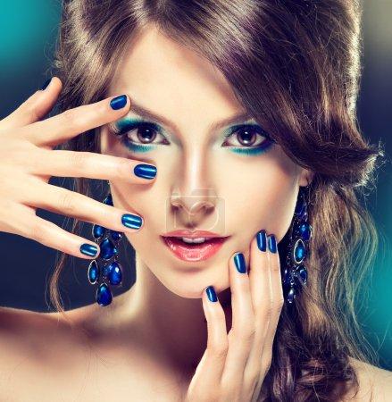 beautiful  woman with fashion make-up
