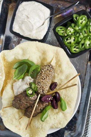 Kebabs and Indian Flatbread