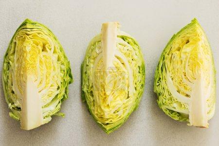Freshly Harvested Spring Cabbage