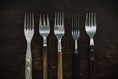 Vintage Forks on Table