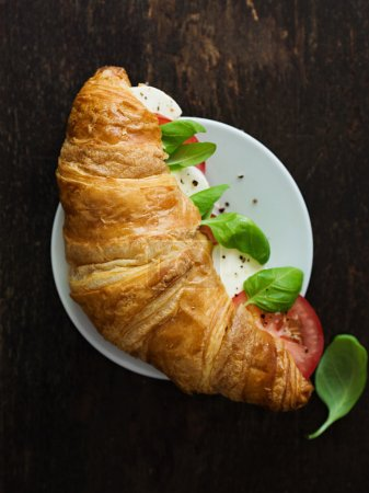 Croissant With Mozzarella