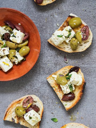 Bread with Feta and Olives