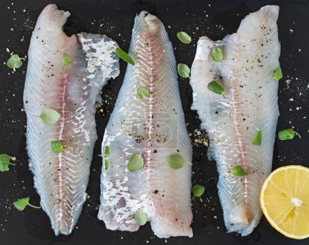 Raw Cod Fillets with Lemon