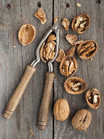 Organic Walnuts on table