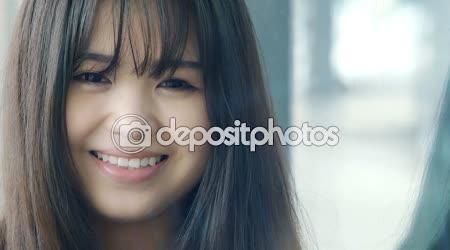 Young smiling chinese woman