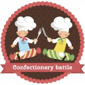 Logo profession confectionery battle
