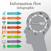 Information flow infographic