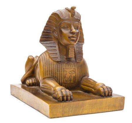 Photo pour Figurine d'un sphinx sur fond blanc - image libre de droit