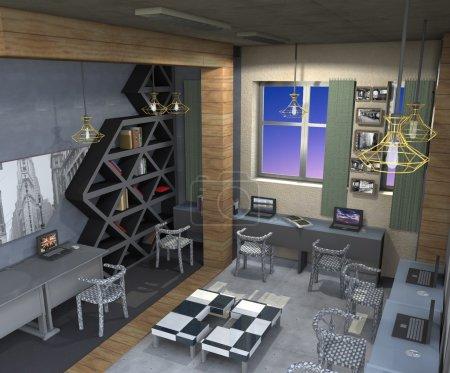 Design planning structure kowork space