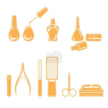 Illustration for Nail salon, beauty, Ladies fashion, lifestyle - Royalty Free Image