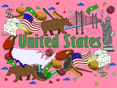 United States vector illustration
