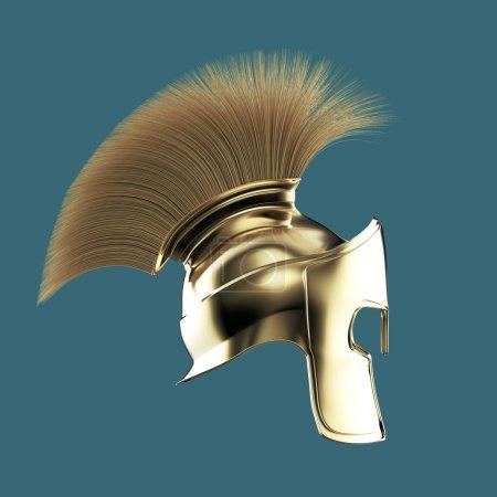 high quality spartan helmet, Greek roman warrior Gladiator, legionnaire heroic soldier, sprts fan render isolated