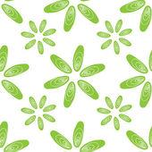 Bezešvé vzor zelené Mušle Slávky jedlé květiny