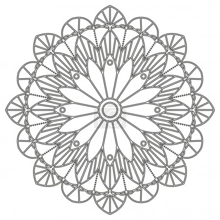 Coloring page with mandala.