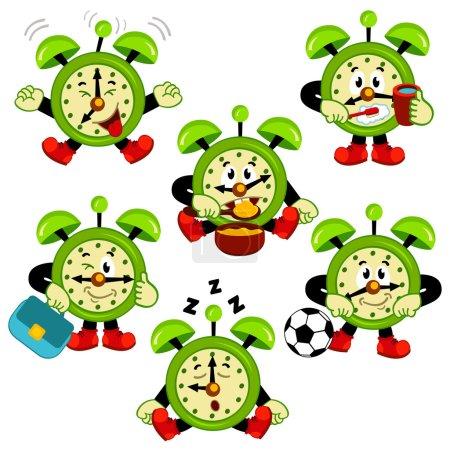 alarm clock routine  vector