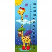 giraffe height measure(in original proportions 1:4