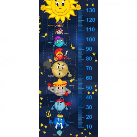 solar system height measure(in original proportions 1:4