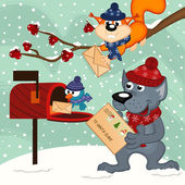 animals send letters to Santa Claus