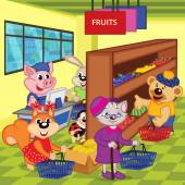 animals in supermarket