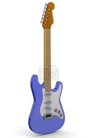 Foto de Guitarra clásica sobre fondo blanco - Imagen libre de derechos