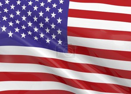 American Flag - 3D