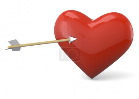 Photo for Heart and Arrow -3D - Royalty Free Image