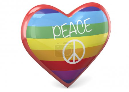 Photo for Heart and Peace - 3D - Royalty Free Image