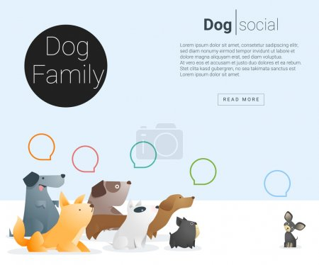 Animal banner with Dog for web design 2, vector , illustration