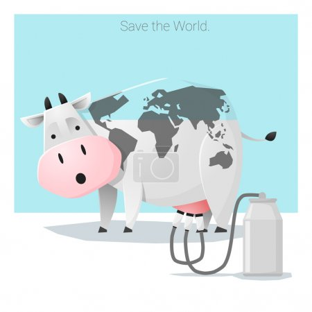 Global ecology concept Save the world before it's too late, vector, illustration