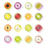 Fruit icon collectionvectorillustration