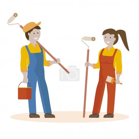 Couple of House Painters