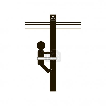 Electrician Worker Icon