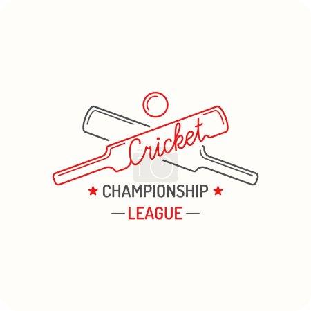 Concept logo cricket