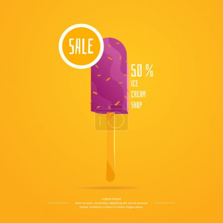 Illustration for Bright vector illustration of ice cream. Isolated illustration of a dairy product. - Royalty Free Image