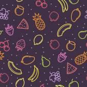 Linear seamless pattern fruits