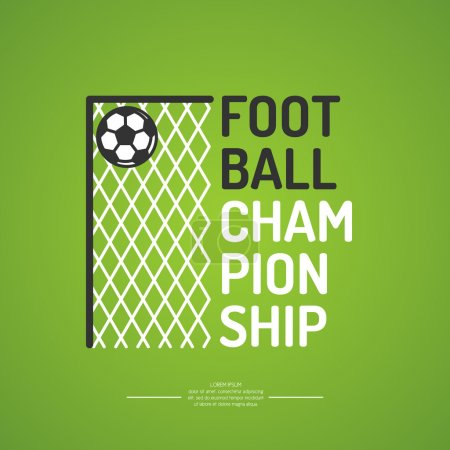 Poster for the football championship.