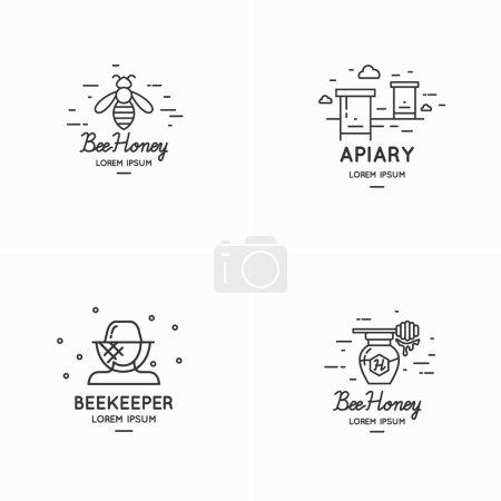 Logo for sale of honey.